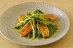 なま麸と水菜のジャージャー