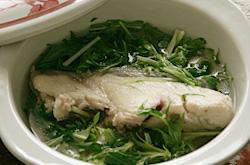 ぶりのあらと水菜のお汁