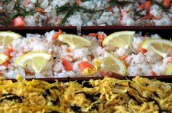 鮭の三色寿司