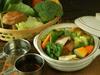 野菜鍋(酒むし煮)